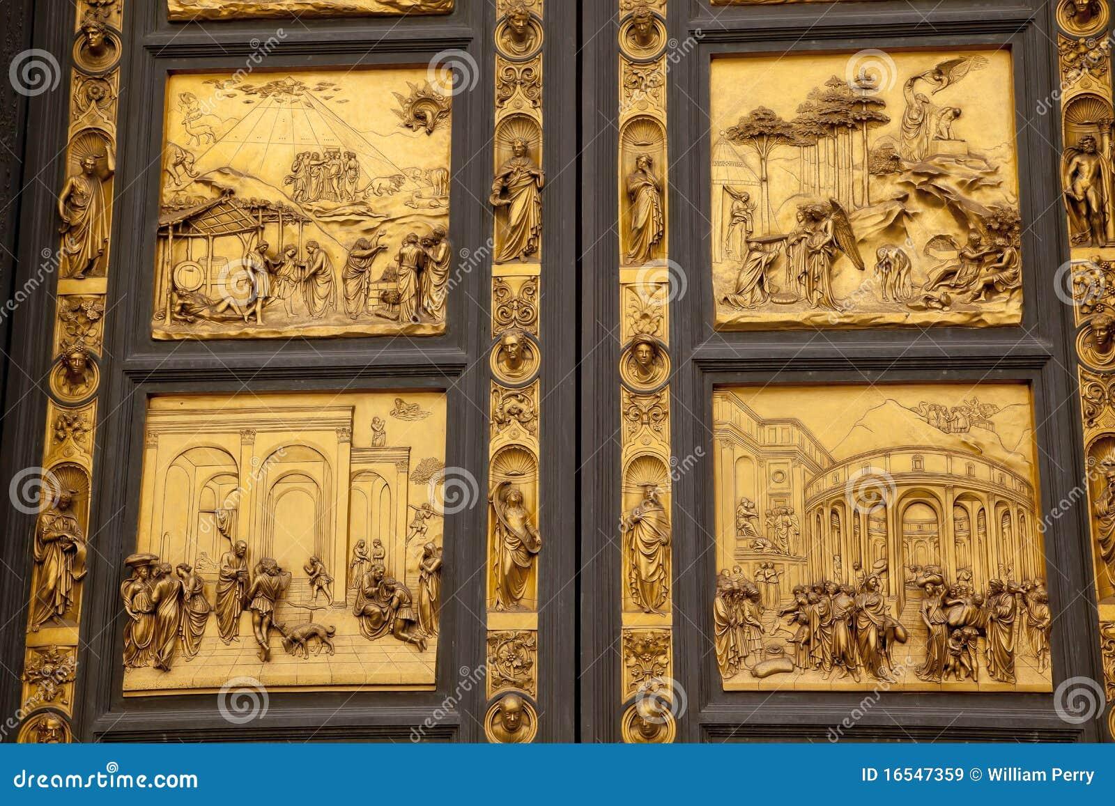 Ghiberti Paradise Baptistery Bronze Door Florence Royalty