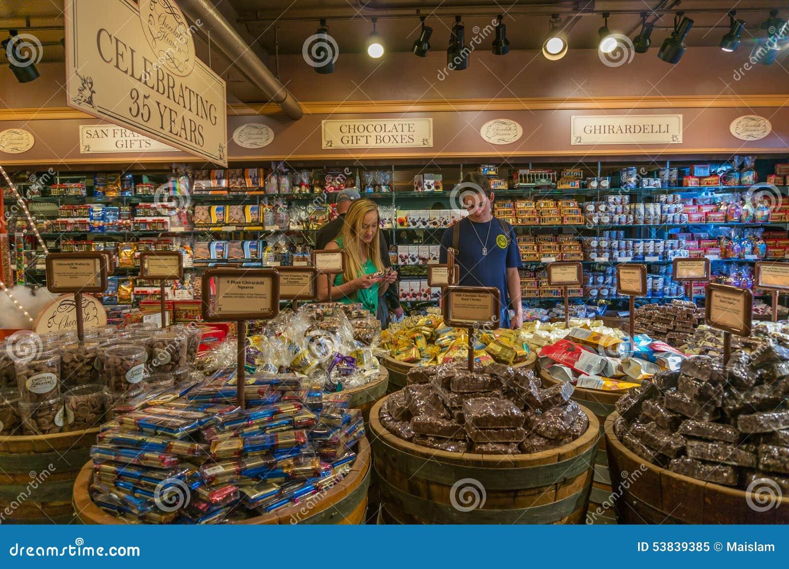Ghirardelli Chocolate Shop At Fisherman's Wharf Editorial Image ...
