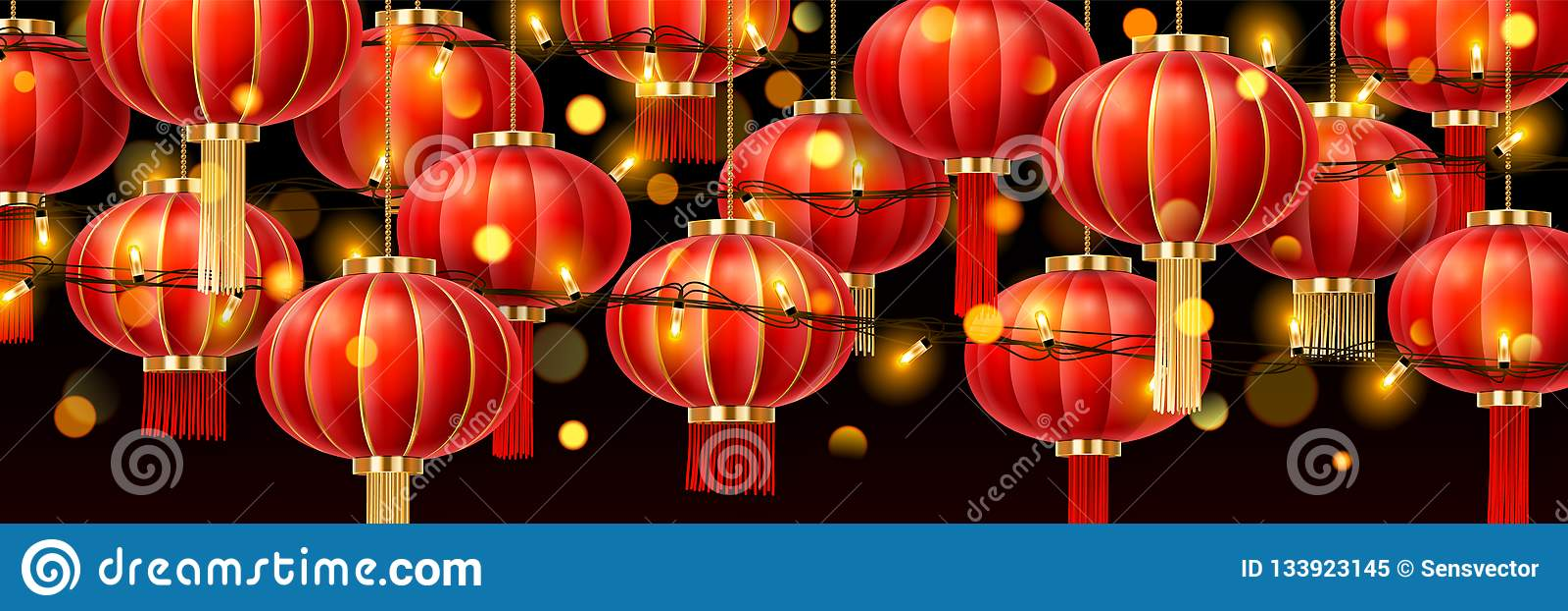 Lampade Cinesi Di Carta.Ghirlande Sulle Lanterne Cinesi O Sulle Lampade Di Carta
