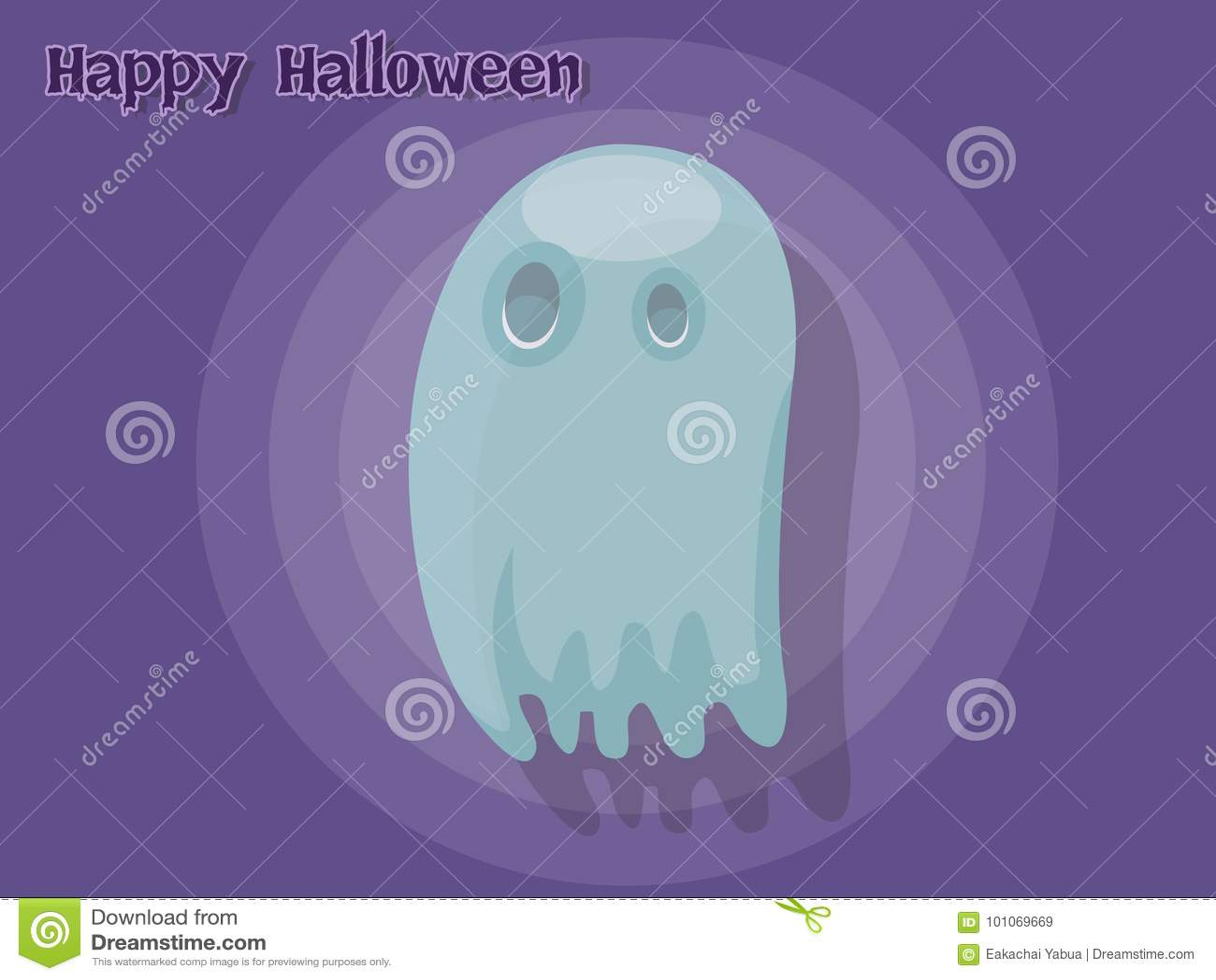 ghost cartoon vector halloween on background stock vector