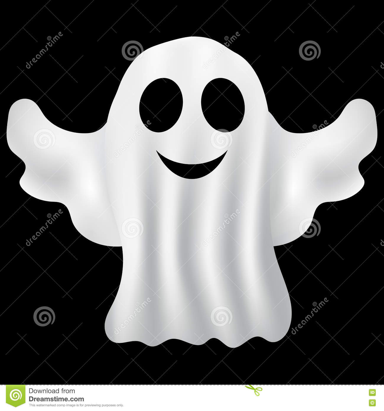 Ghost Halloween Party In A White Sheet Stock Vector - Image: 77938179