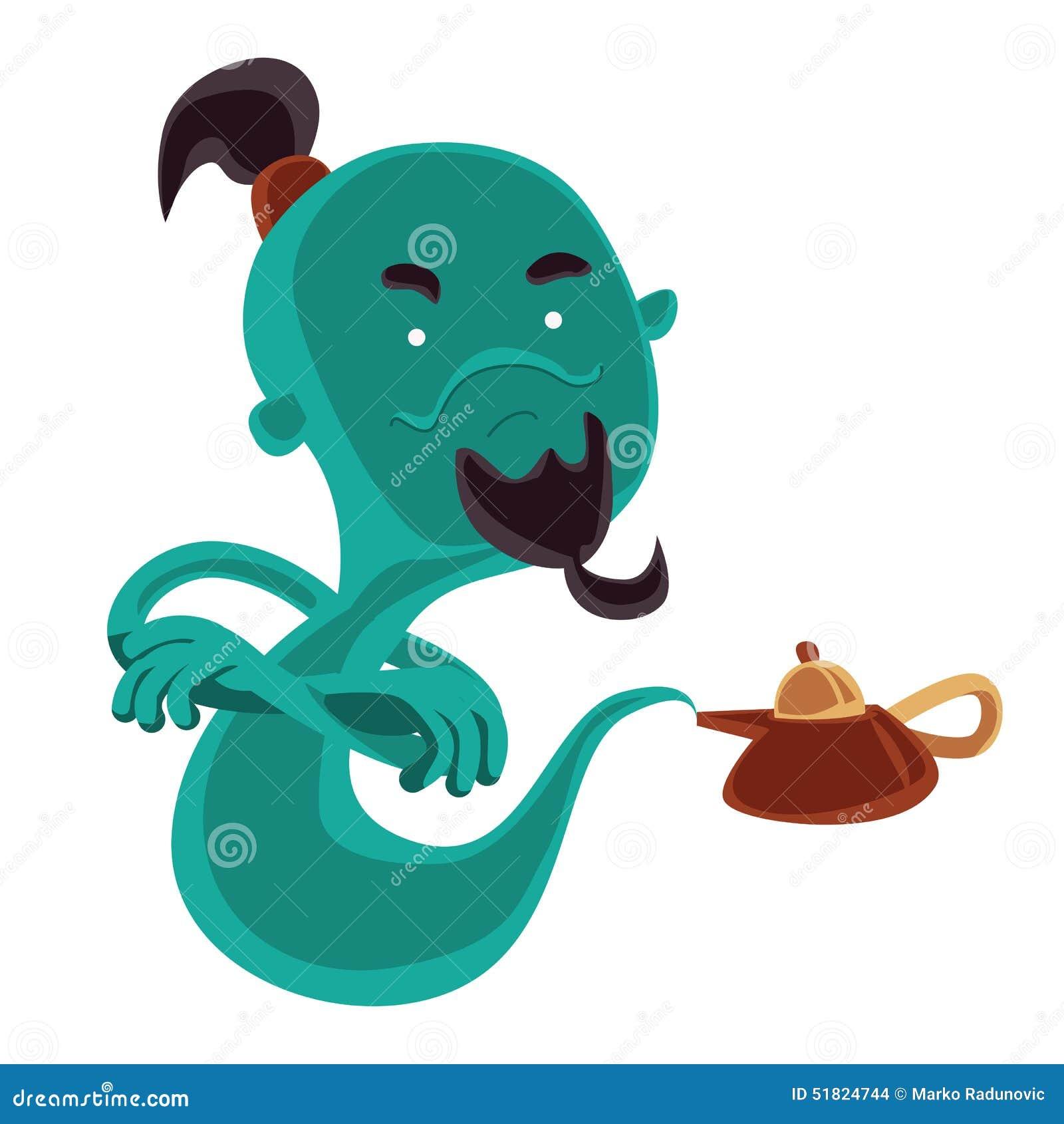 Genie Lamp Illustration