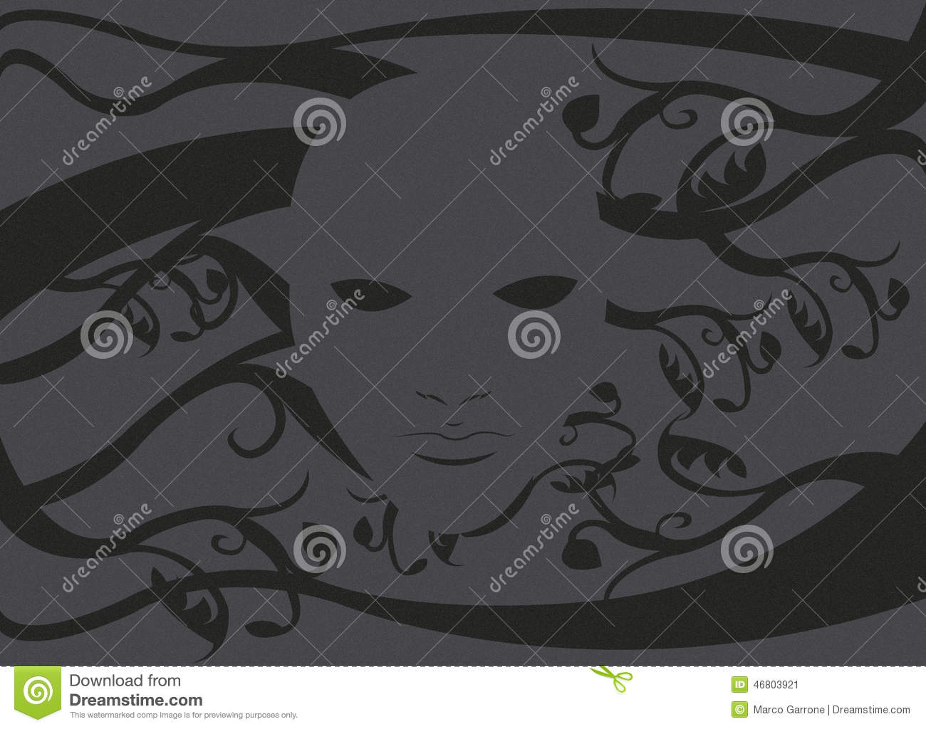 Ghost Mask Without A Face 2 Stock Illustration - Image: 46803921