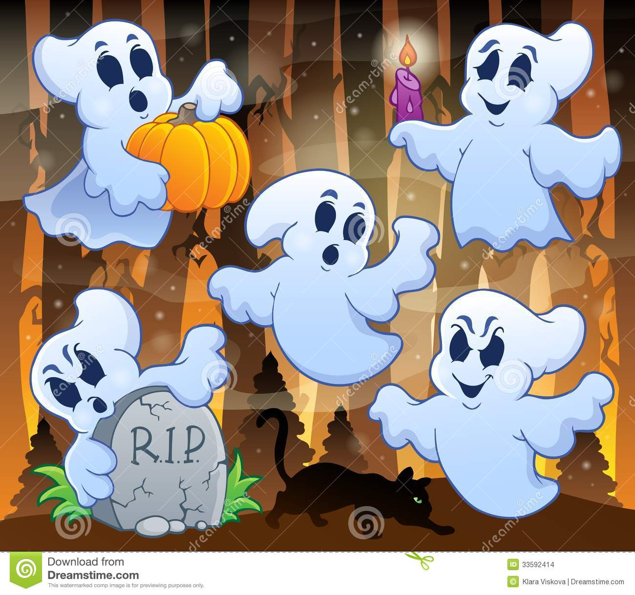 Ghost topic image 3 - eps10 vector illustration.