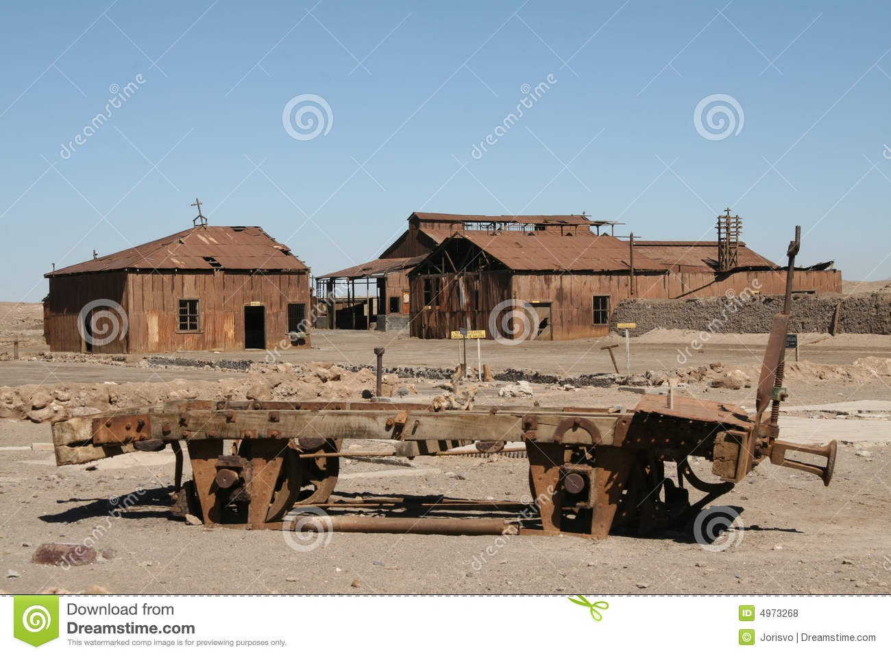 Download Ghost Town In Atacama Desert, Chile Stock Photo - Image of humberstone, desolation: 4973268