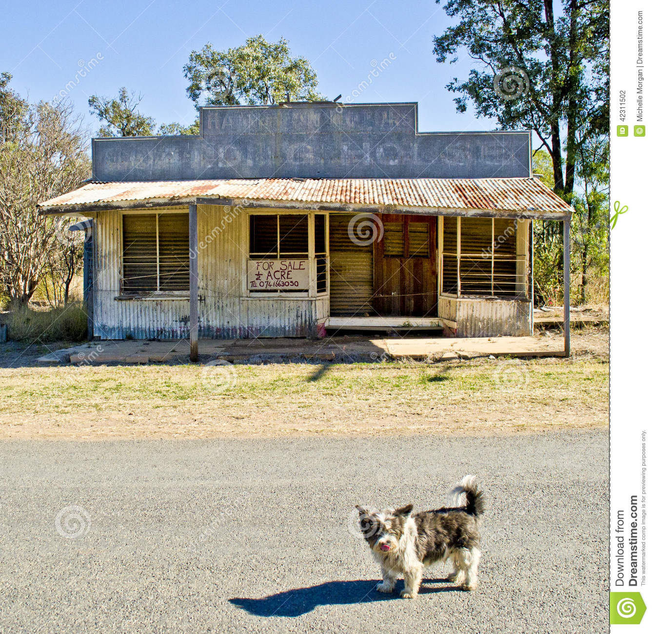Ghost Town,Cracow Queensland, Australia Editorial