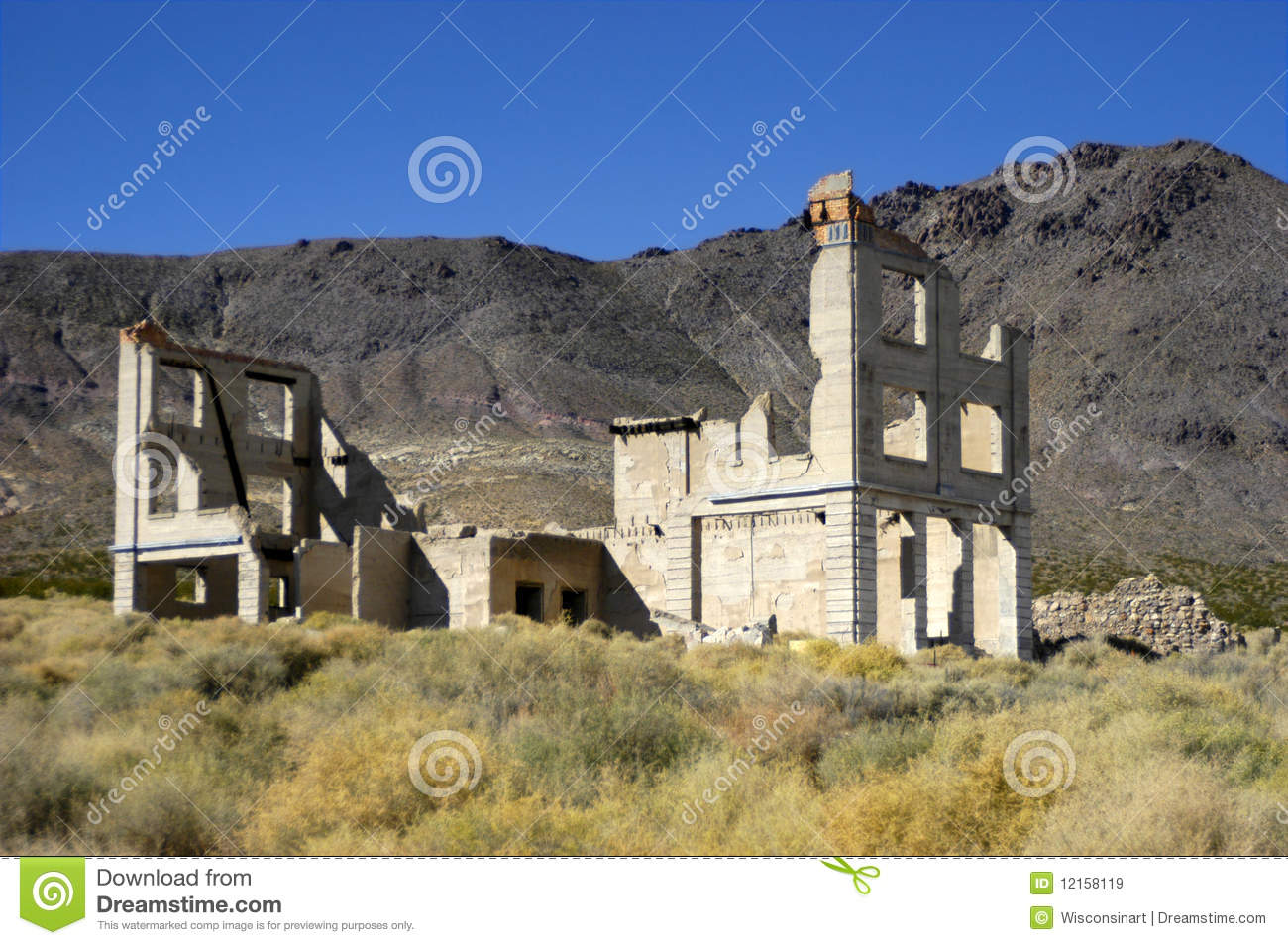 ghost town near death valley national park royalty free