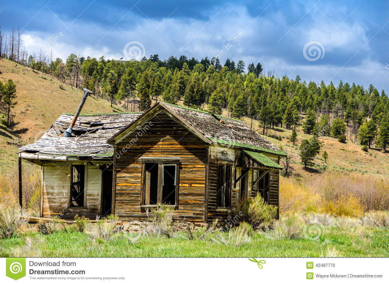 Ghost town stock photo image 42487770 for St elmo colorado cabins