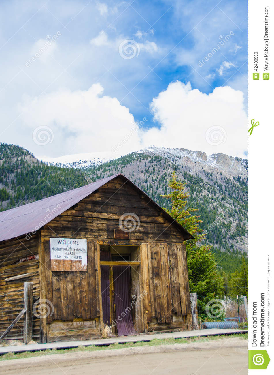 Ghost town stock photo image 42488580 for St elmo colorado cabins