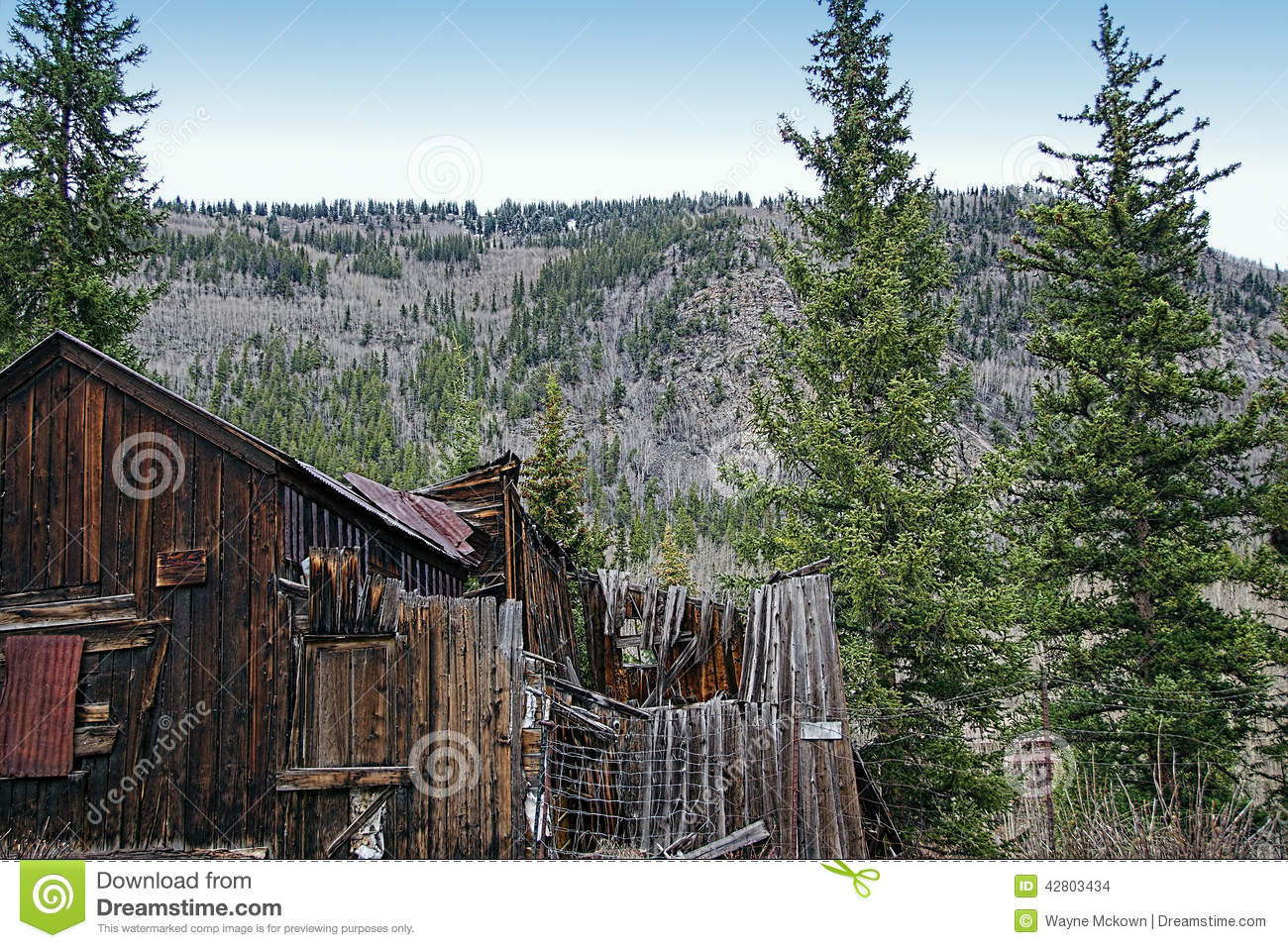 Ghost Town Stock Photo Image 42803434