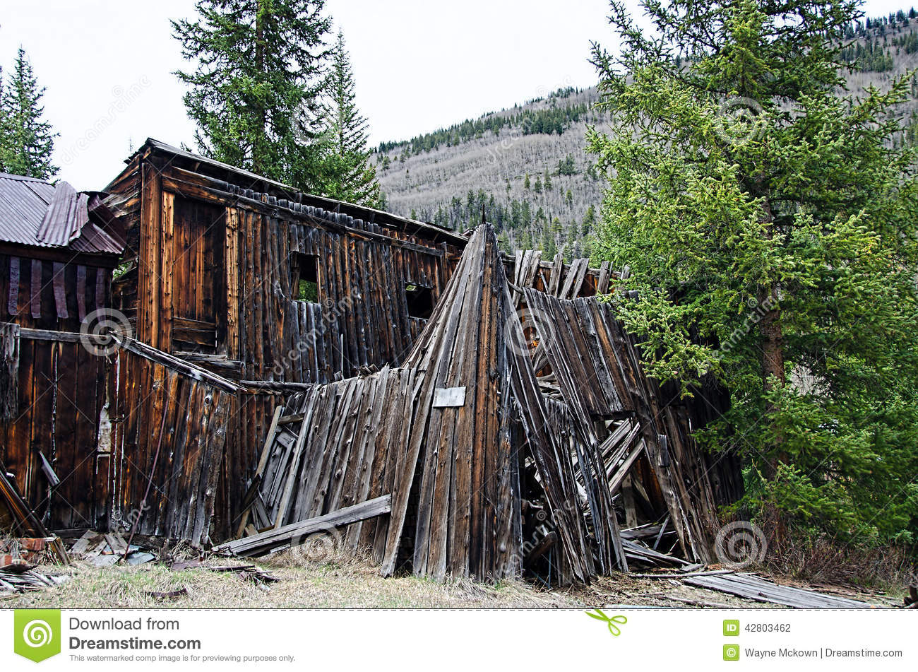 Ghost town stock photo image 42803462 for St elmo colorado cabins