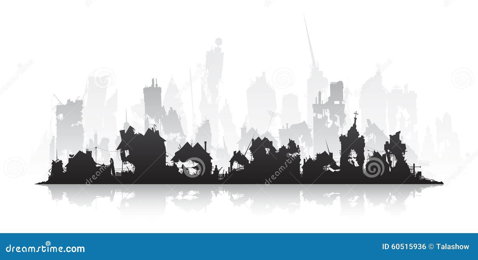 Ghost town stock vector. Illustration of halloween, city ...