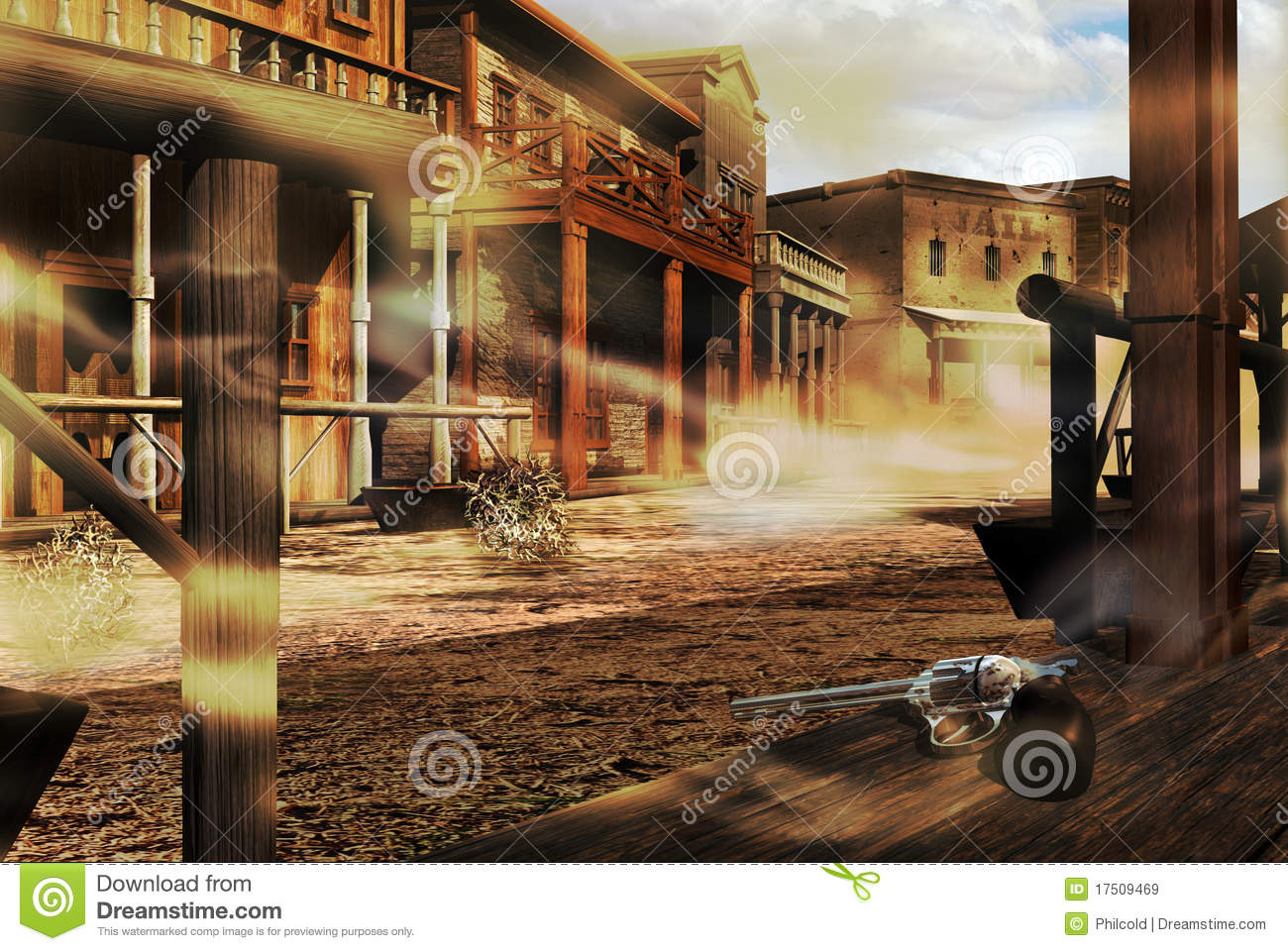 Ghost Western Town Stock Illustration Image Of City