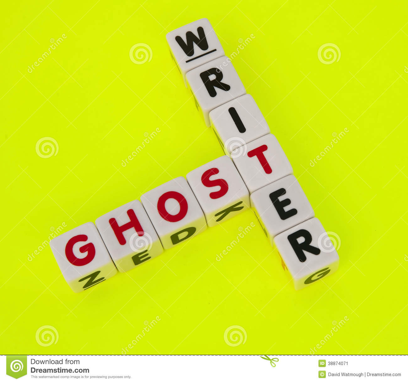 Ghost writing service crossword