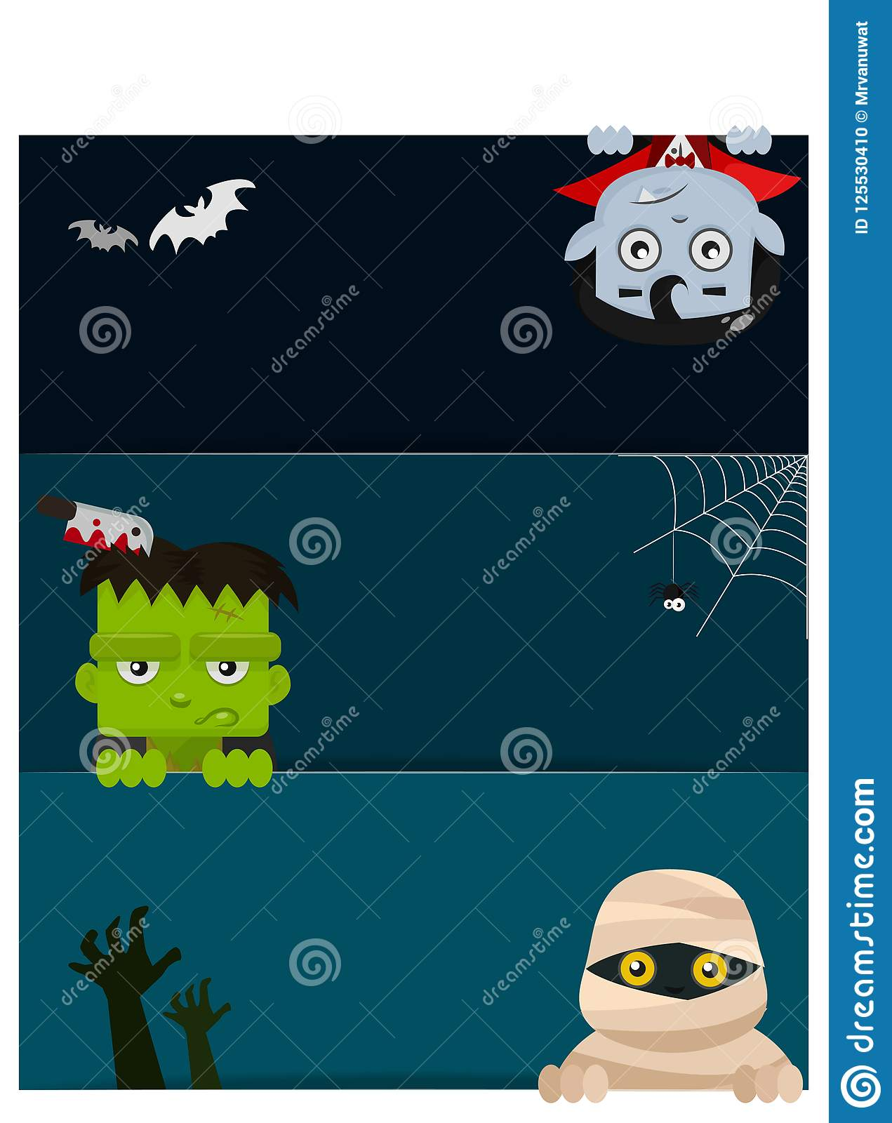 Ghosts Gather At A Party, Perfect For Decorating A Website Or A ...