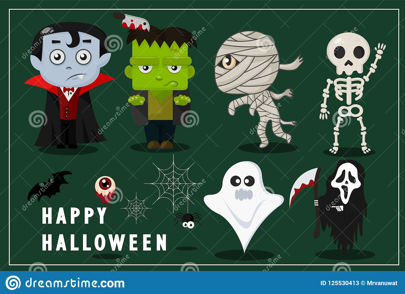 Ghosts Gather At A Party, Perfect For Decorating A Website ...
