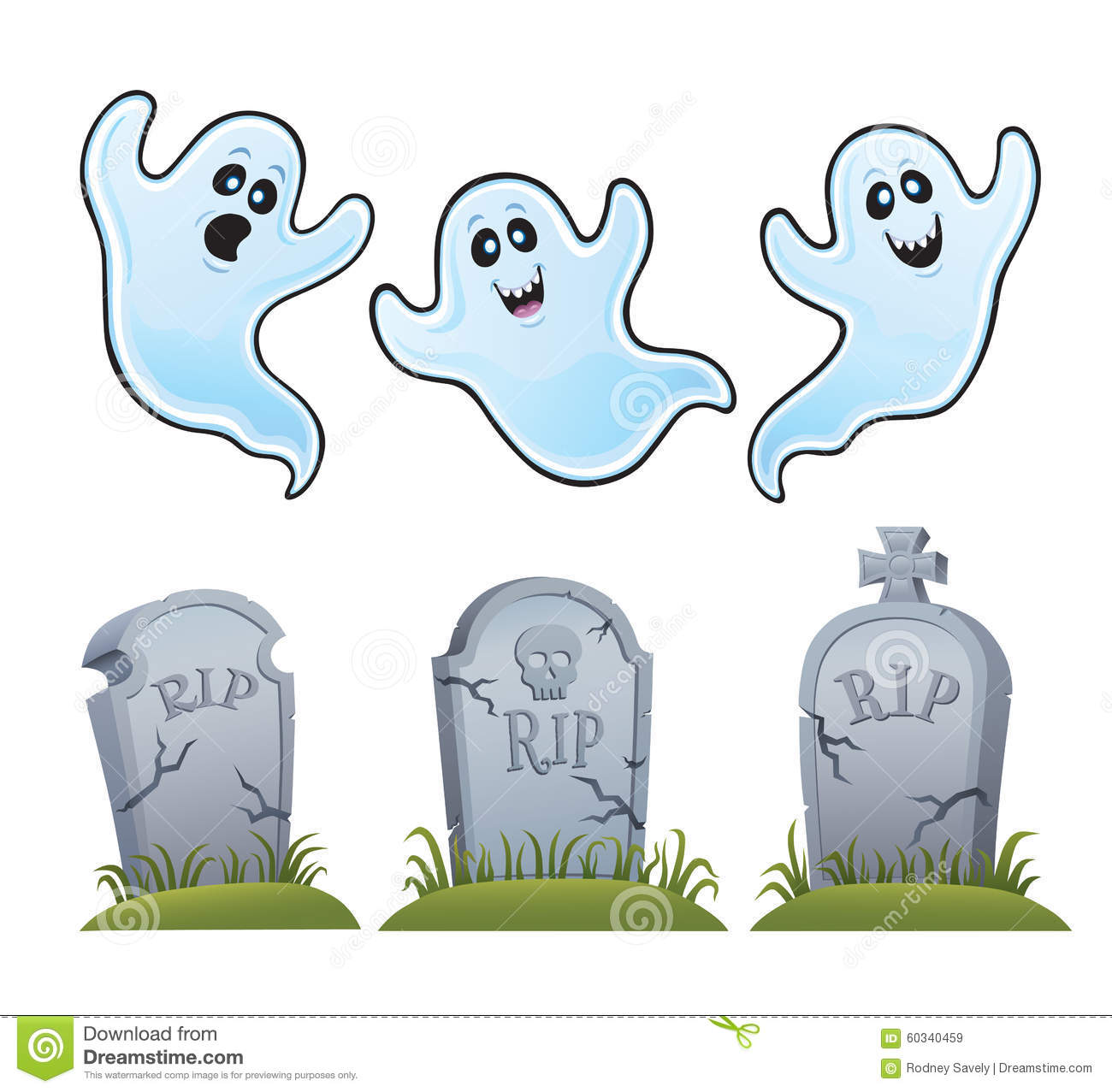 ghosts and tombstones stock image image of haunt  omens headstone clip art sunflowers headstone clip art designs