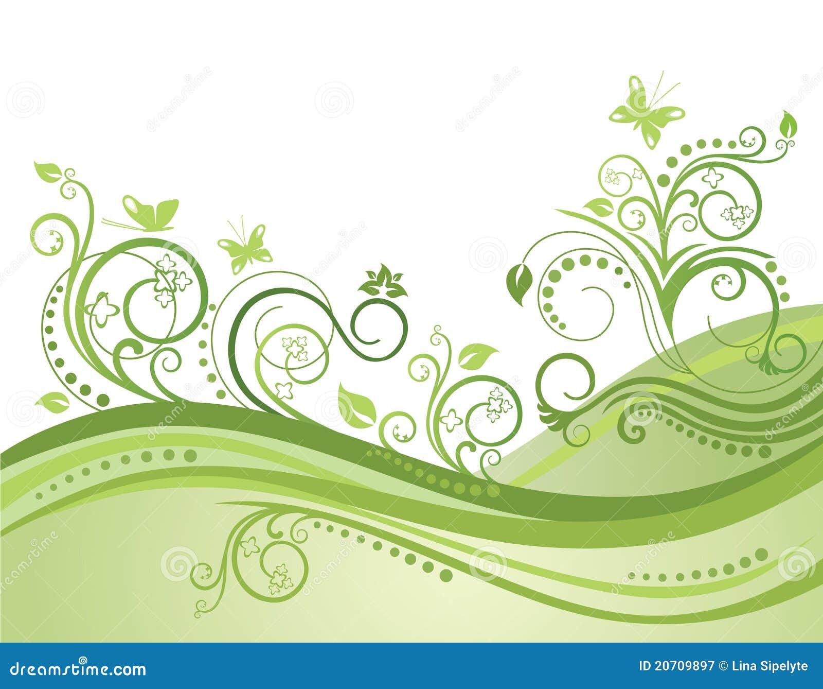 Giacimento fiori e farfalle verdi della sorgente for Fiori verdi