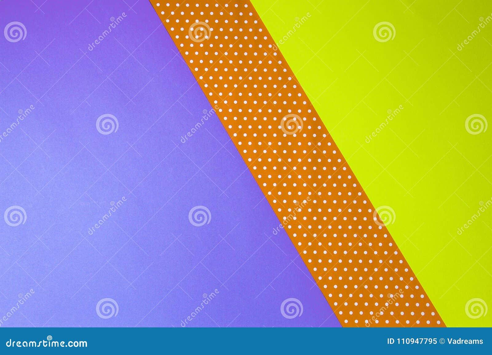 Giallo Geometrico Astratto, Porpora E Fondo Di Carta Del