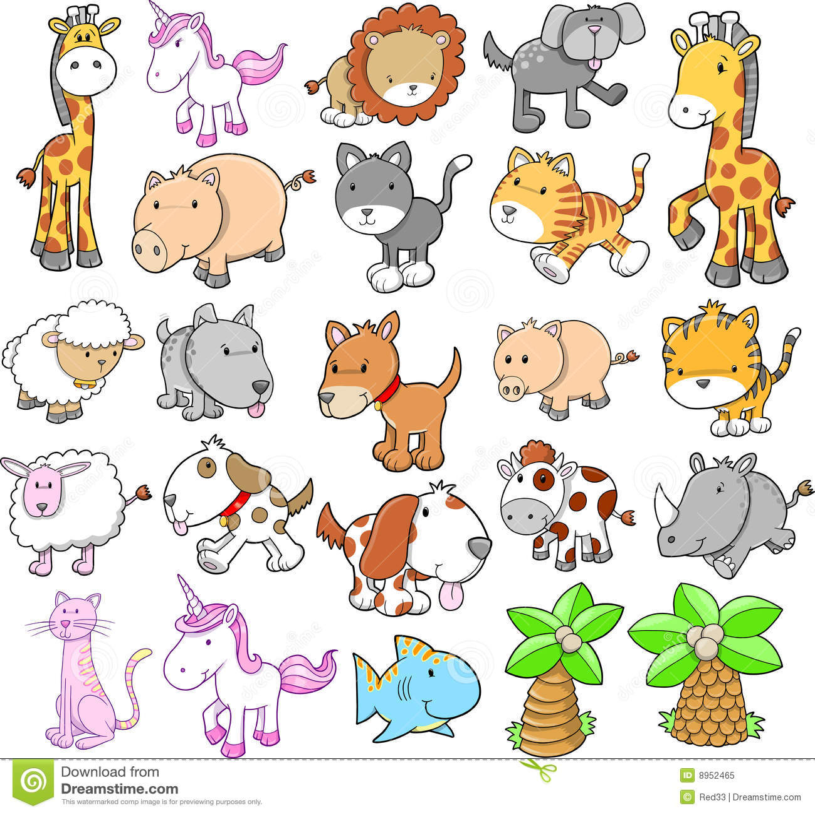 giant animal set vector royalty free stock photo image 8952465