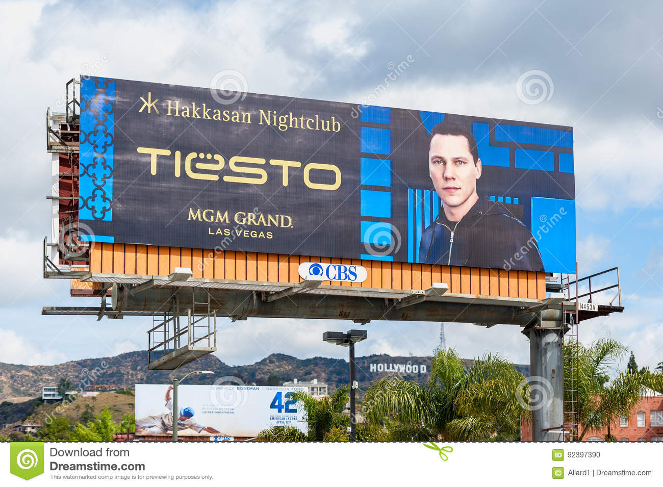 Giant Billboard Promoting DJ Tiësto In Los Angeles, USA