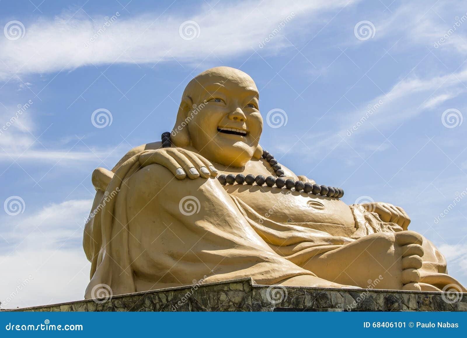 Giant buda, Buddhist Temple, Foz do Iguacu, Brazil.