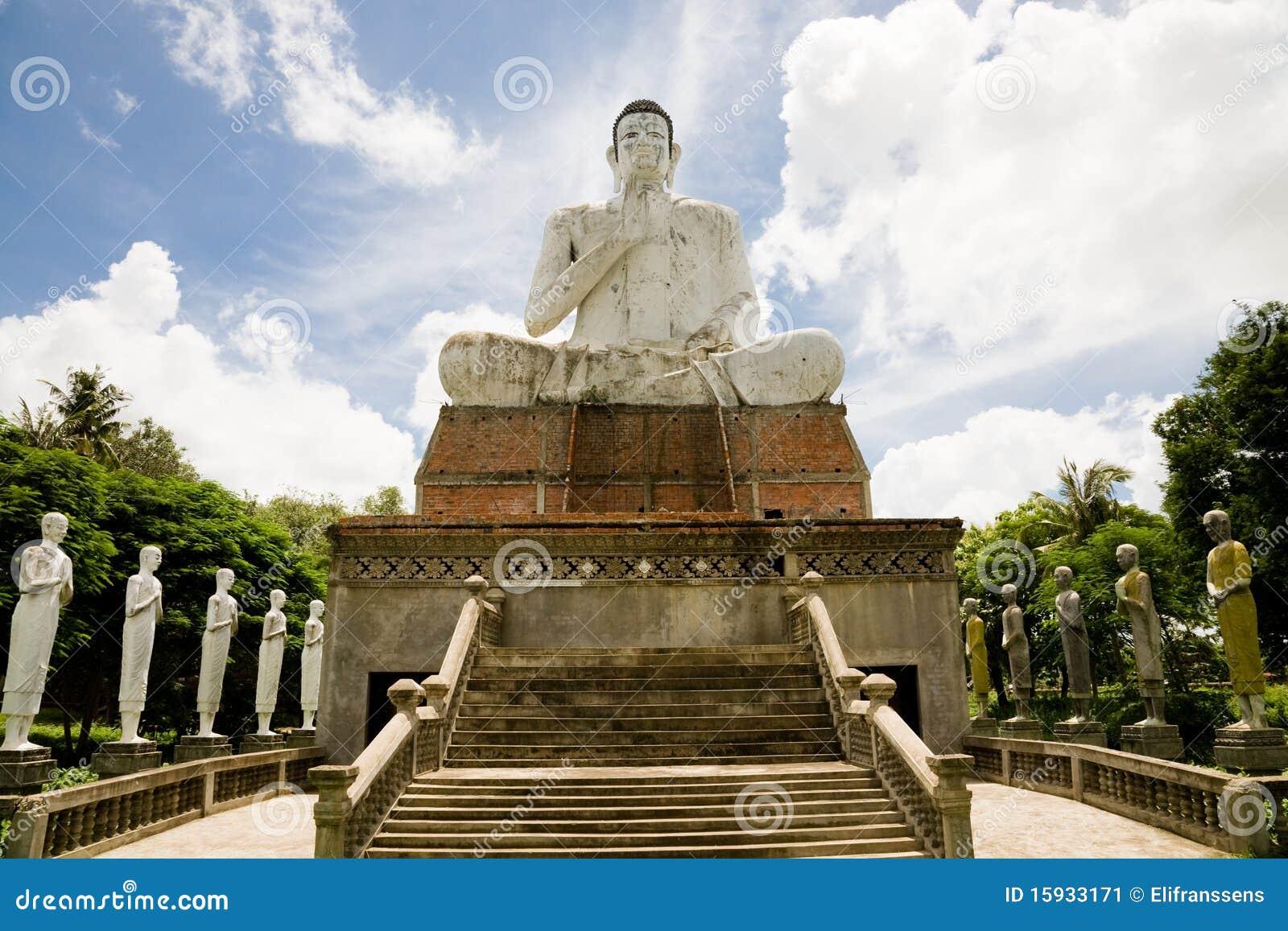 Giant Buddha, Battambang, Cambodia Stock Image
