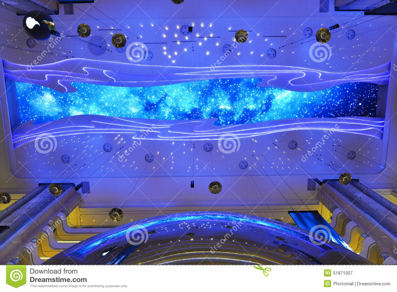 Giant Ceiling Led Screen Of Modern Building Roof Stock Photo Image 51871007