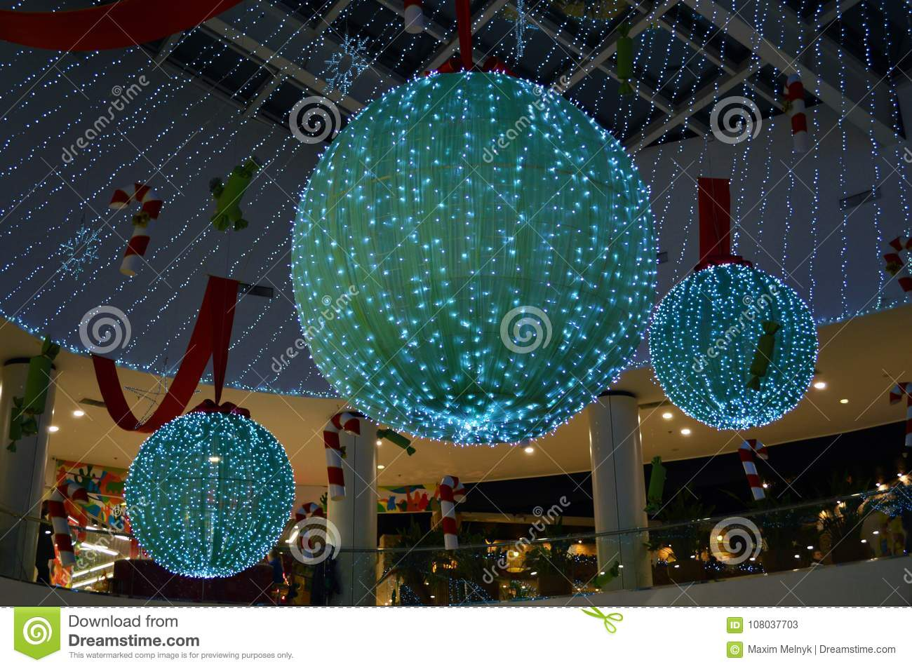 download giant christmas balls in the shopping mall stock image image of odessa background - Giant Christmas Balls