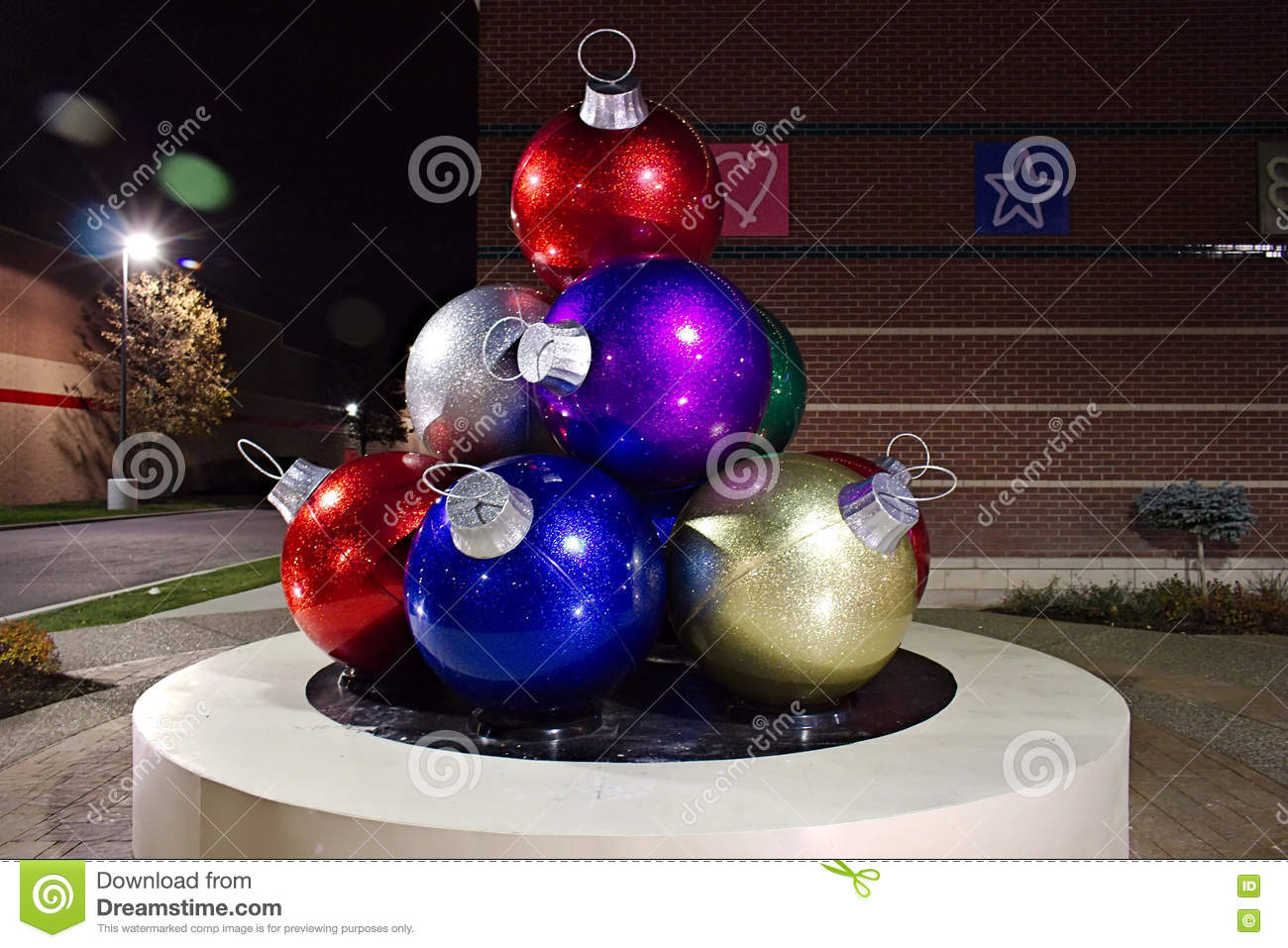Giant Christmas Ornaments Editorial Image Image Of Amherst 81531795