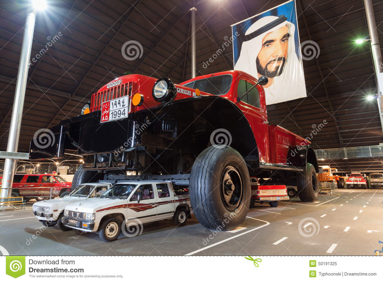 Giant Dodge Power Wagon In Abu Dhabi Editorial Image