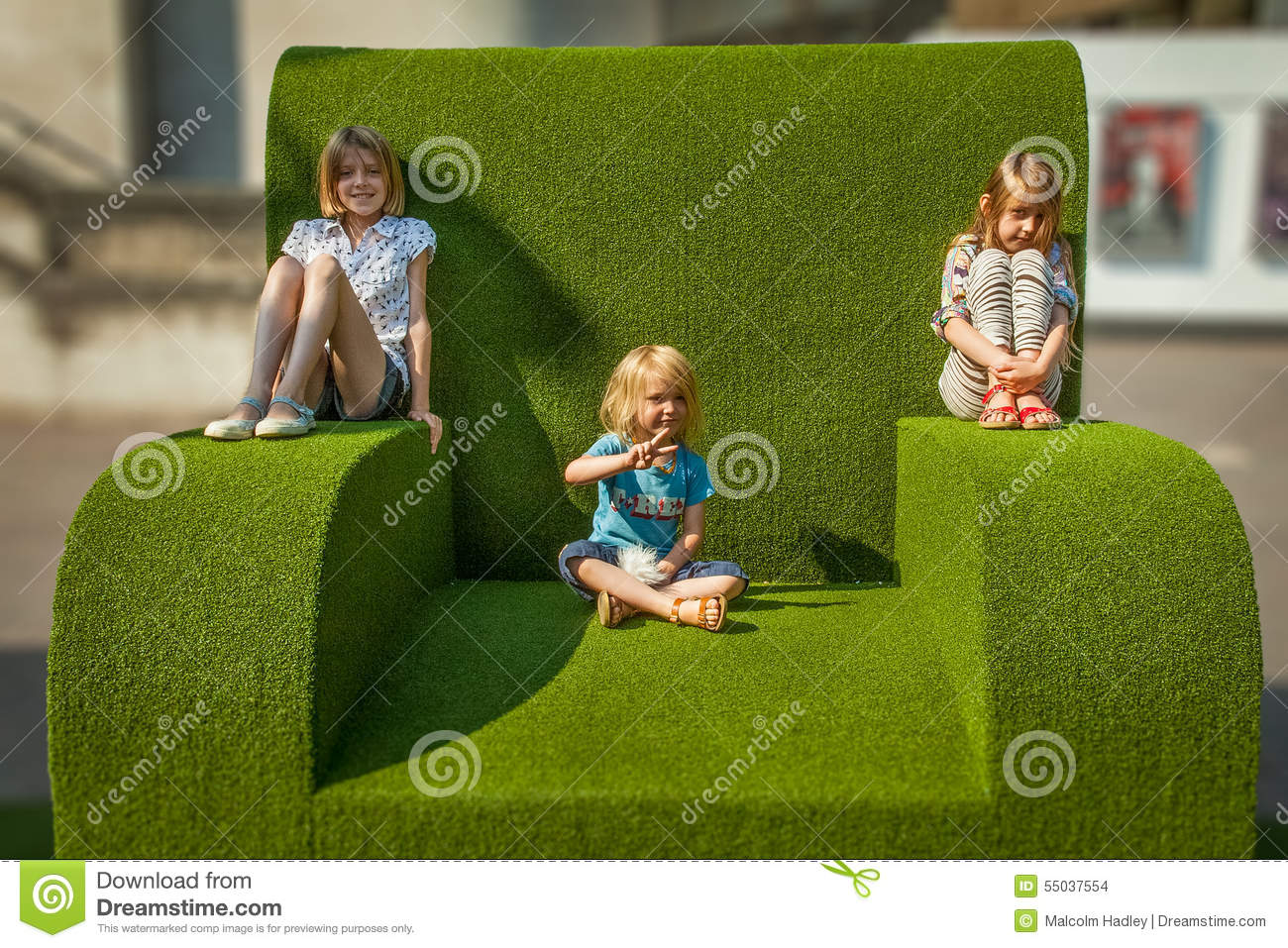 Giant green chair, National Theatre, Southbank, London