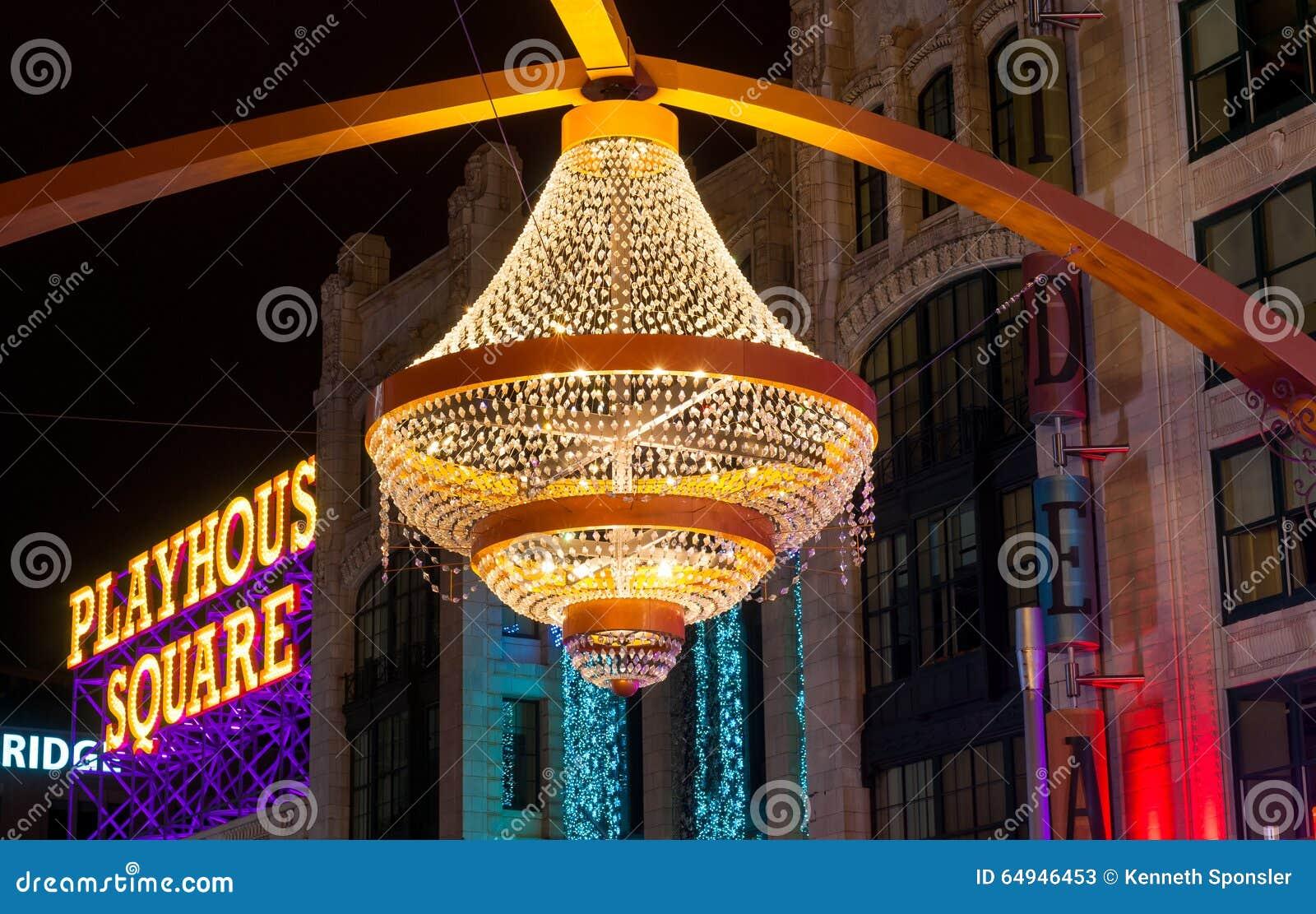 Chandelier - Playhouse Square - Cleveland, Ohio Stock Image ...