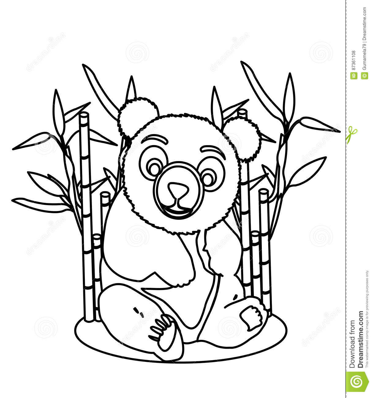 Giant panda coloring page stock illustration. Illustration of games ...