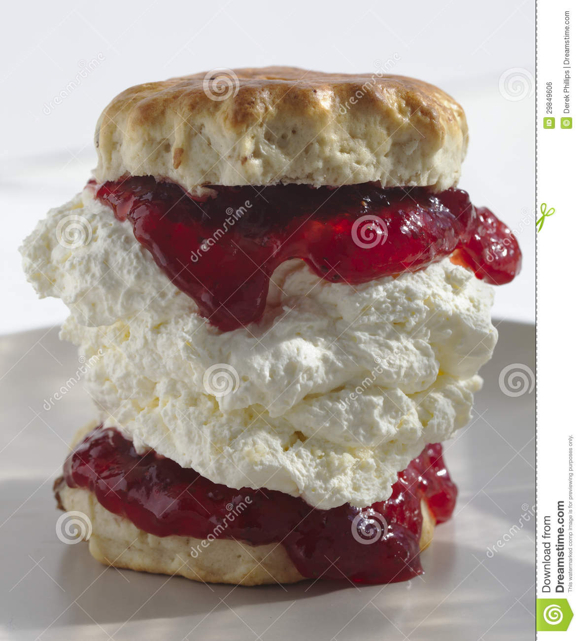 Giant Scone with Cream and Jam
