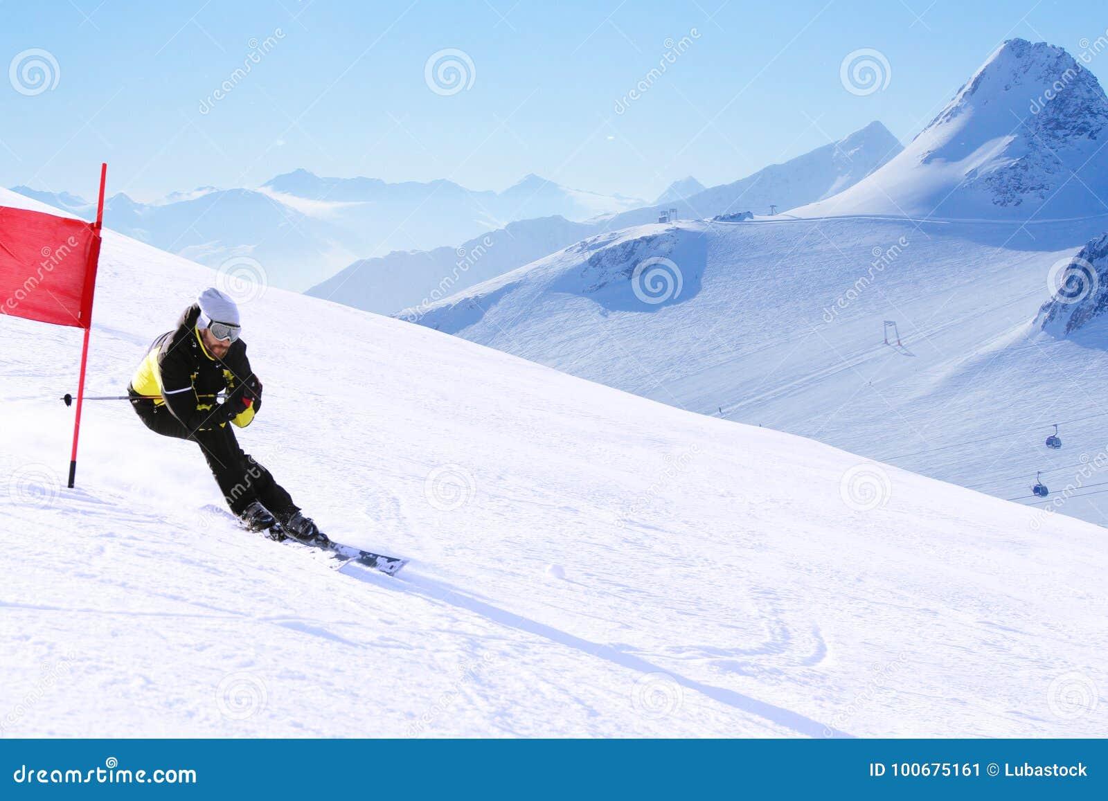 Download Giant Slalom ski racer stock image. Image of alpine - 100675161