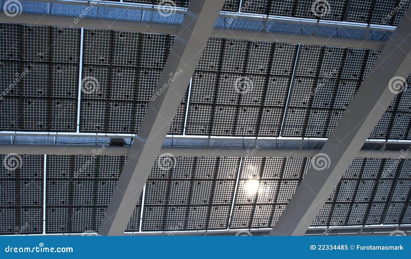 Giant solar panel in detail barcelona royalty free stock - Solar barcelona ...