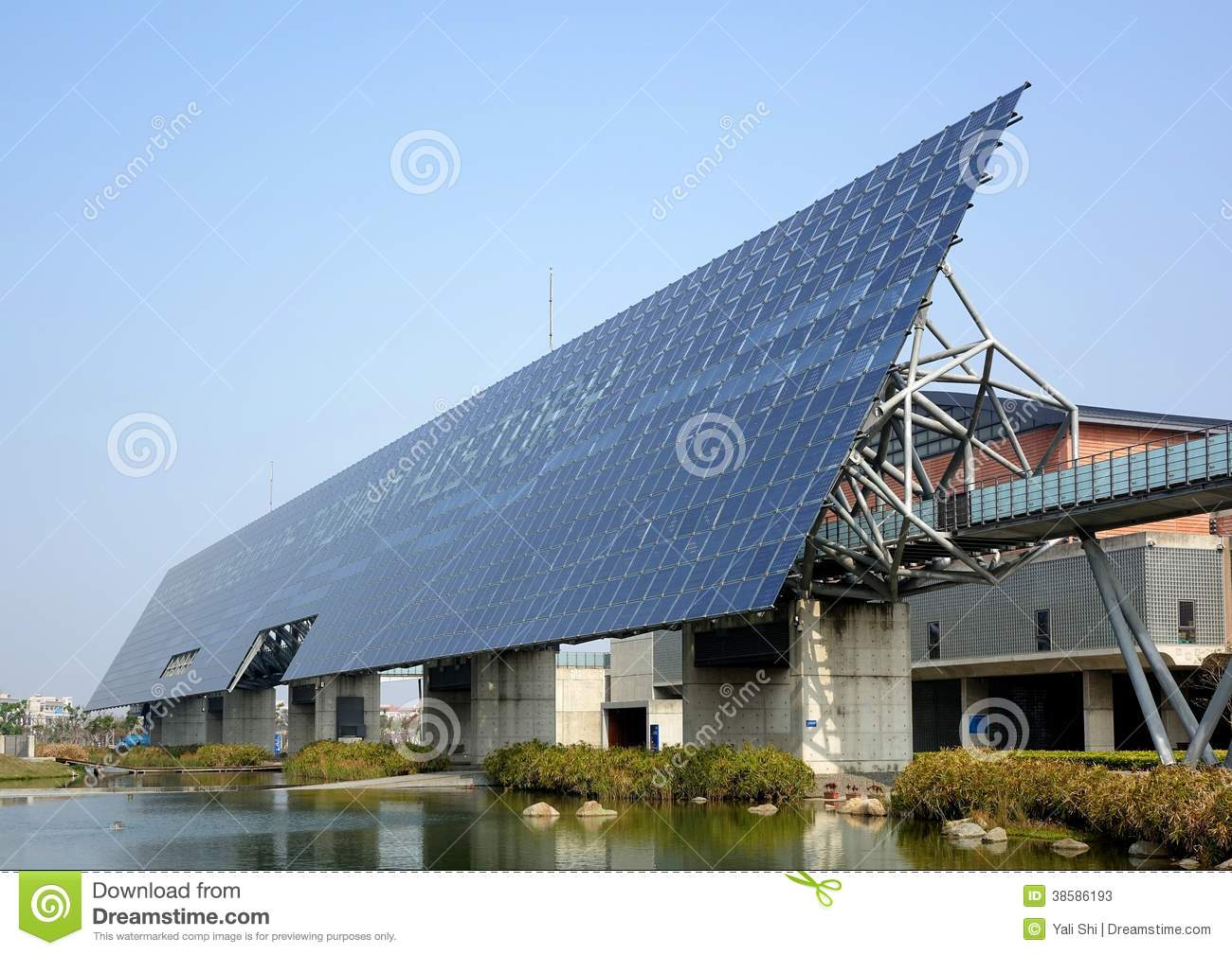 Solar Panel Wall >> Giant Solar Panel Wall In Taiwan Editorial Stock Photo Image Of