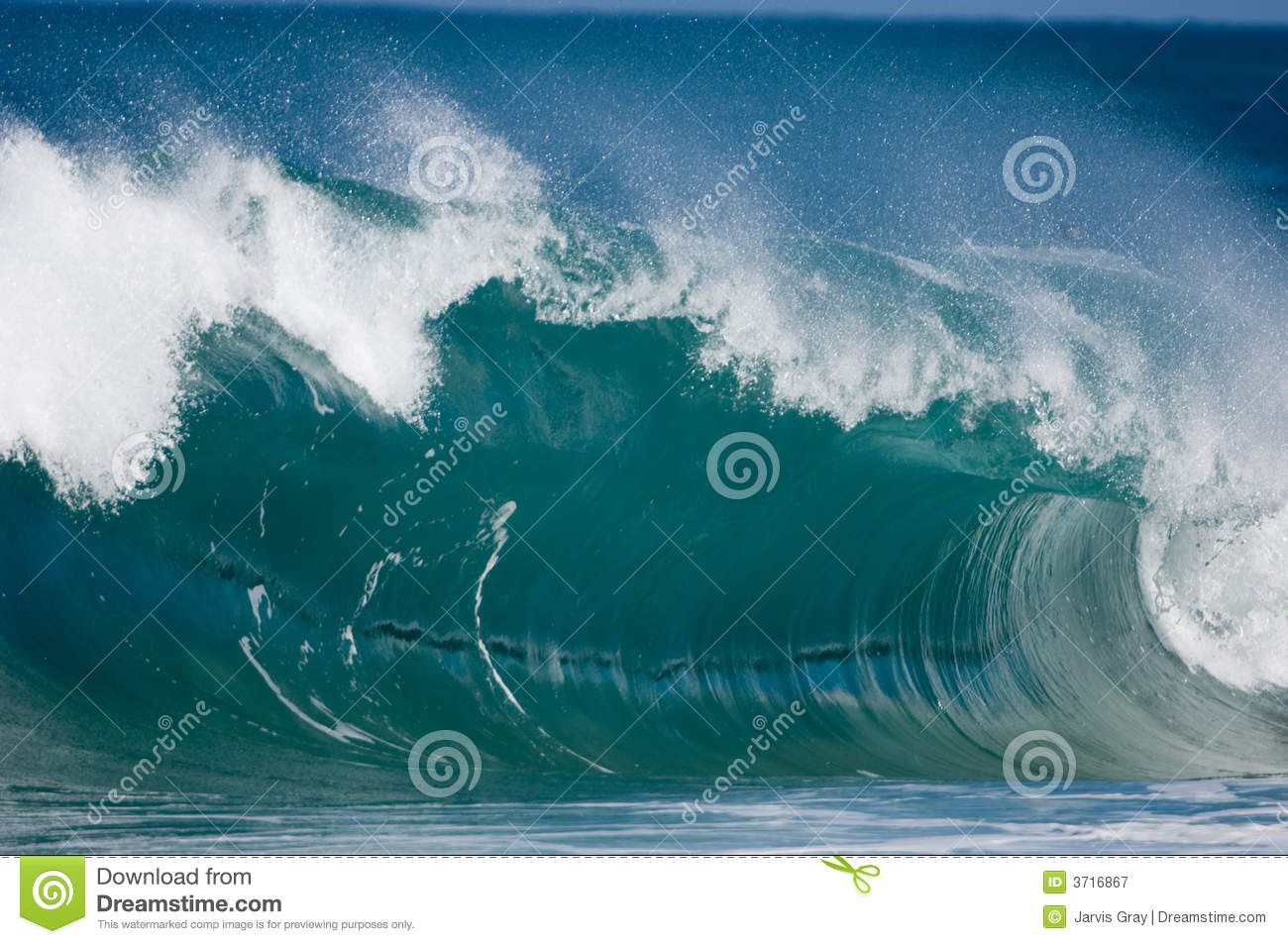 Download Giant surf waves at Oahu stock image. Image of tropical - 3716867