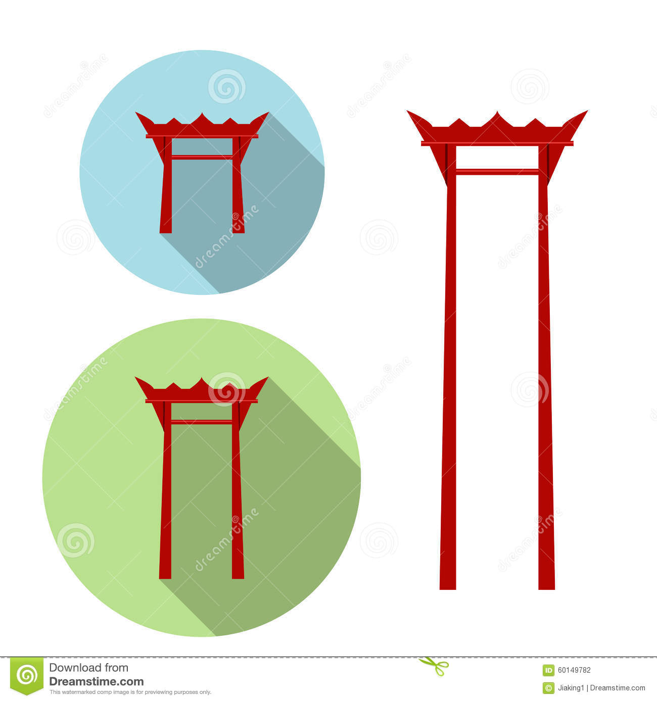 Giant Swing, Torii Gate Icon Stock Vector - Image: 60149782