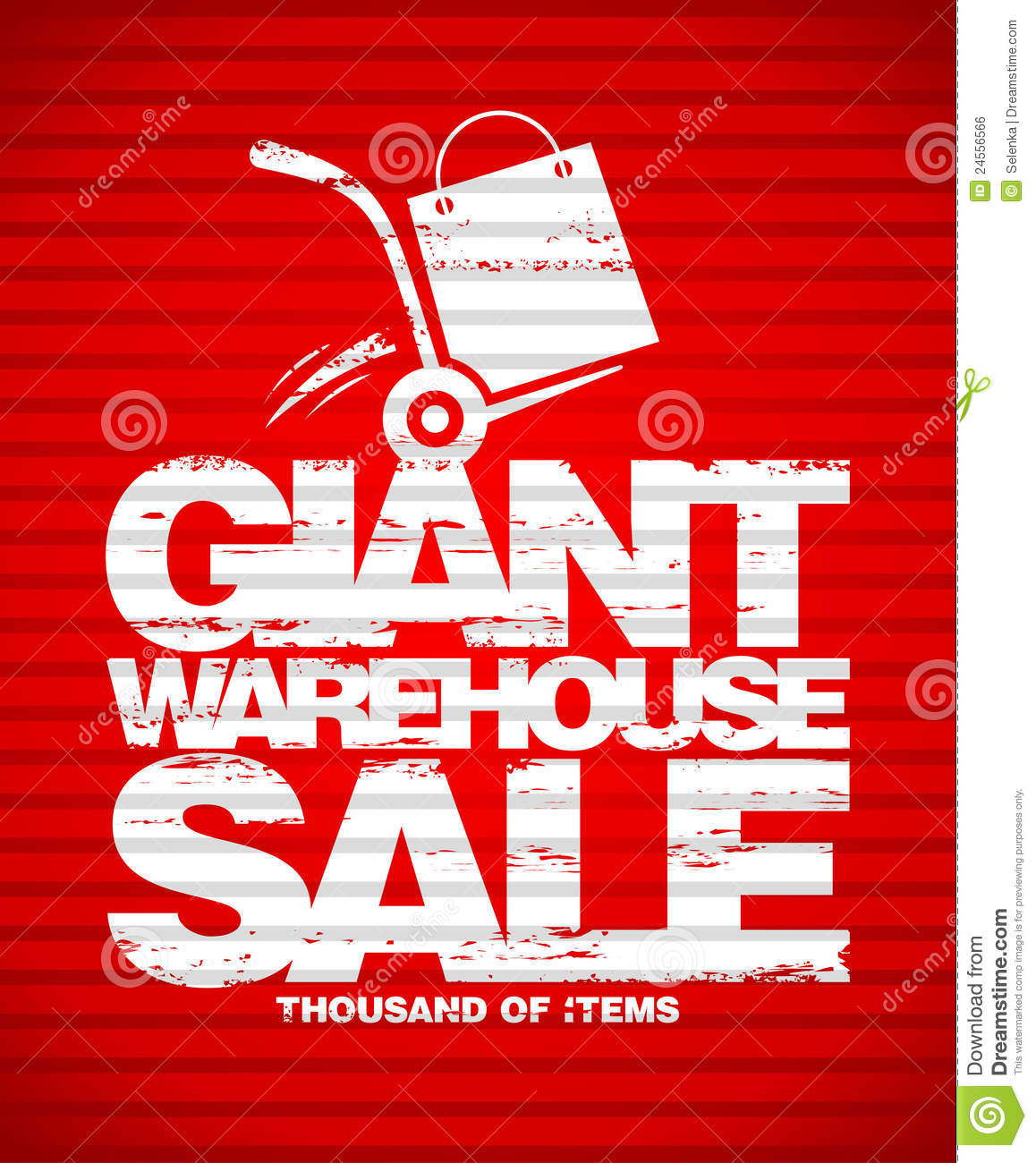giant warehouse sale design template  royalty free stock