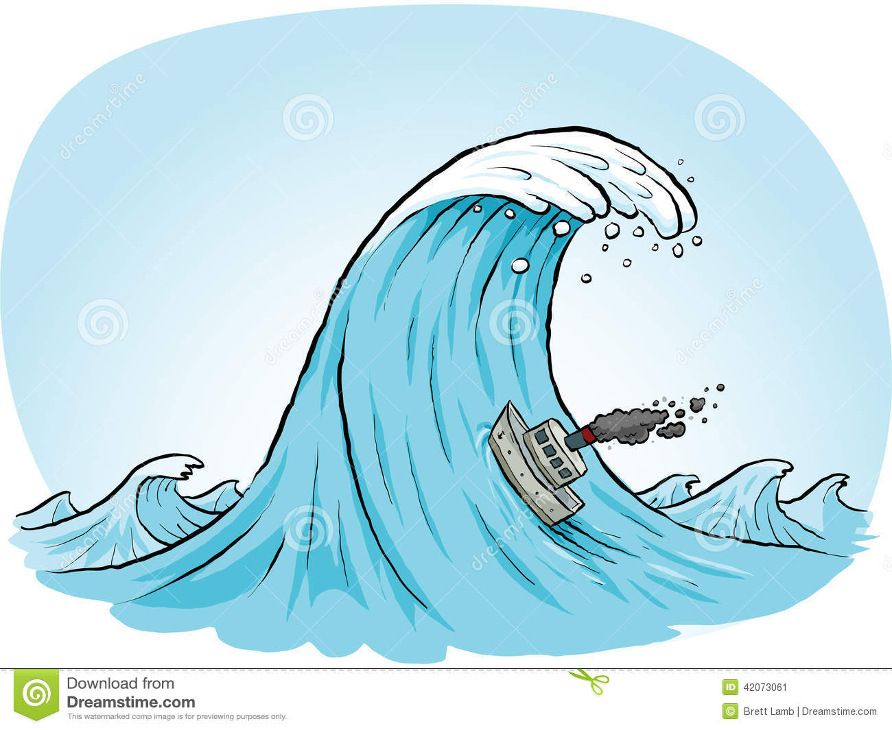 giant wave climb stock illustration image 42073061