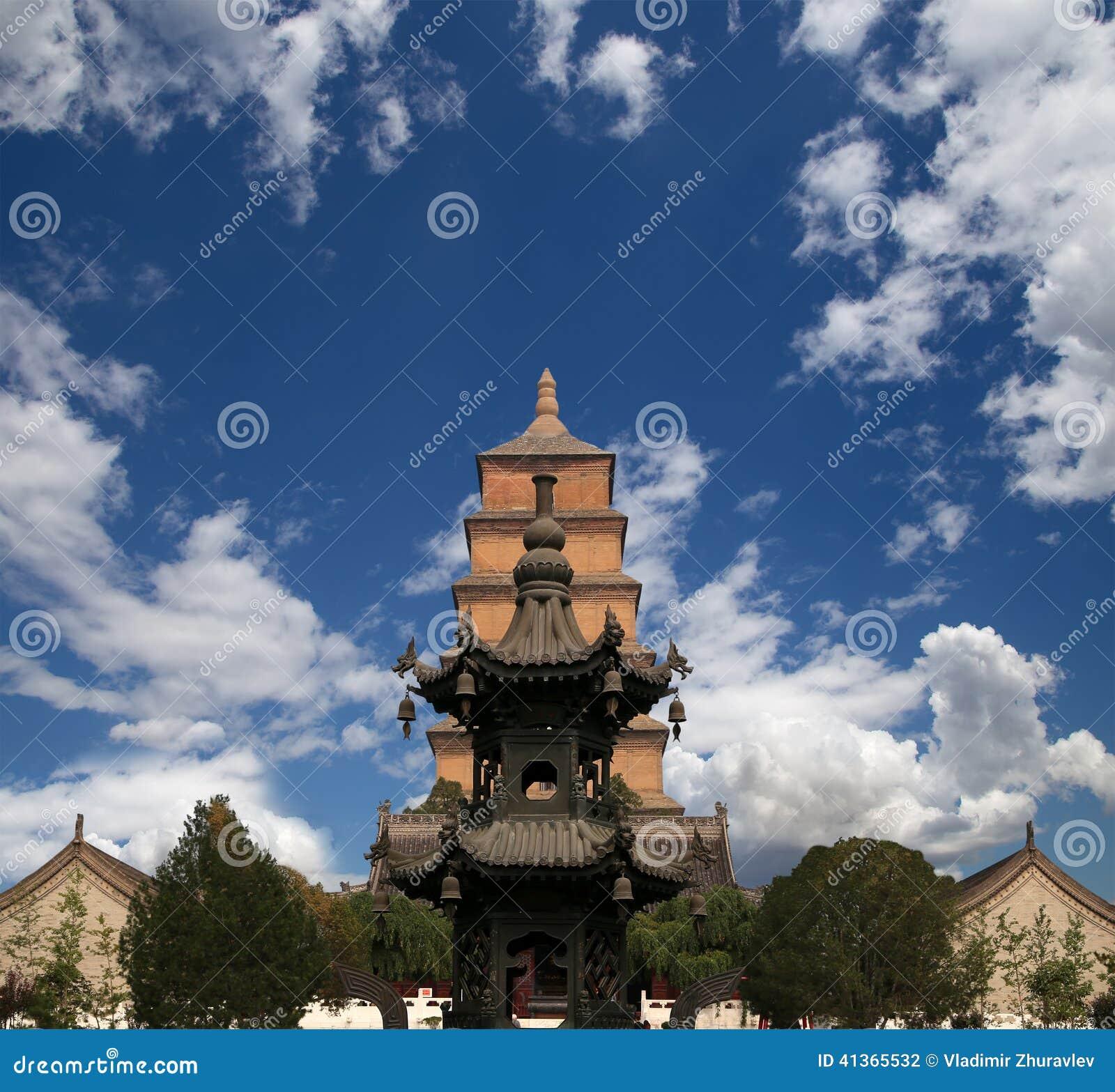 Giant Wild Goose Pagoda, Xian (Sian, Xi an), Shaanxi province, China
