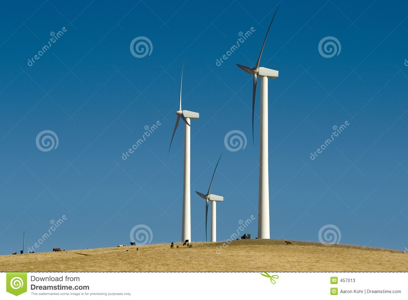 Download Giant Wind Towers stock image. Image of propeller, hill - 457013