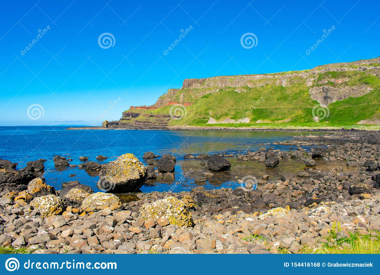 Giants Causeway Aerial View Most Popular And Famous Attraction In ...