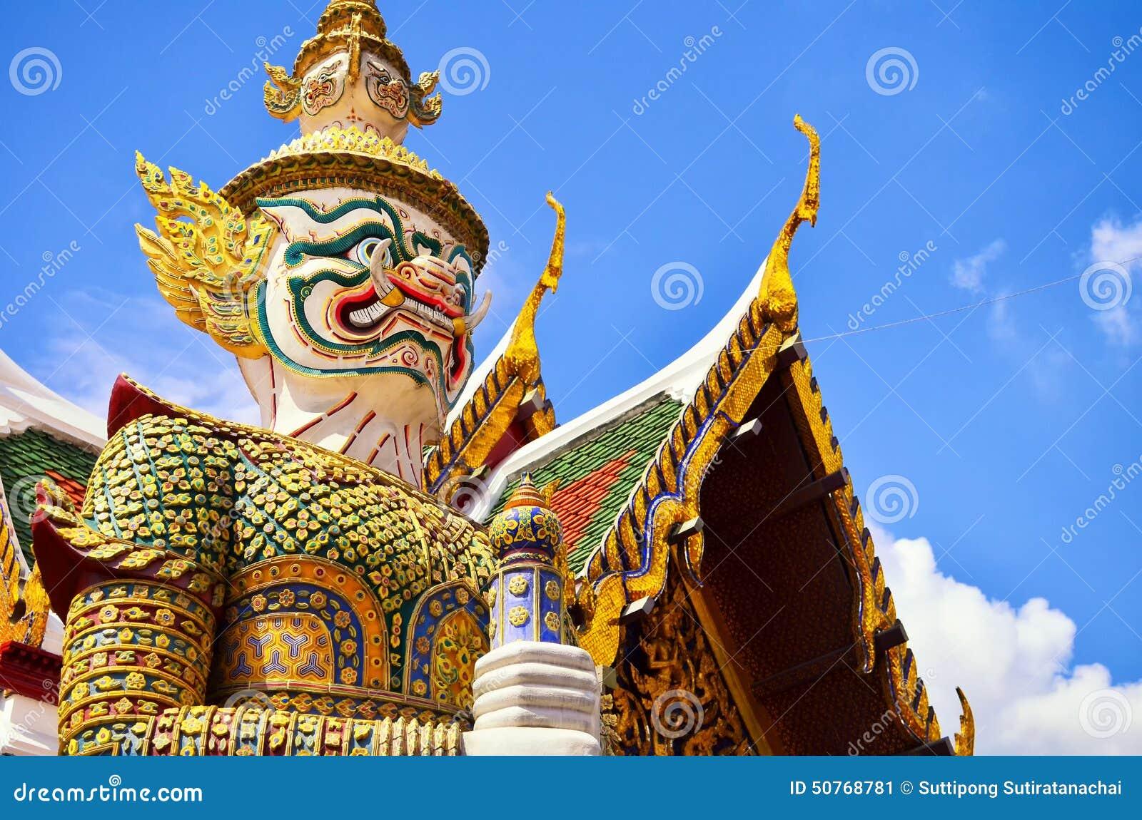 Giants in Grand palace and Wat Pra Keaw, Bangkok
