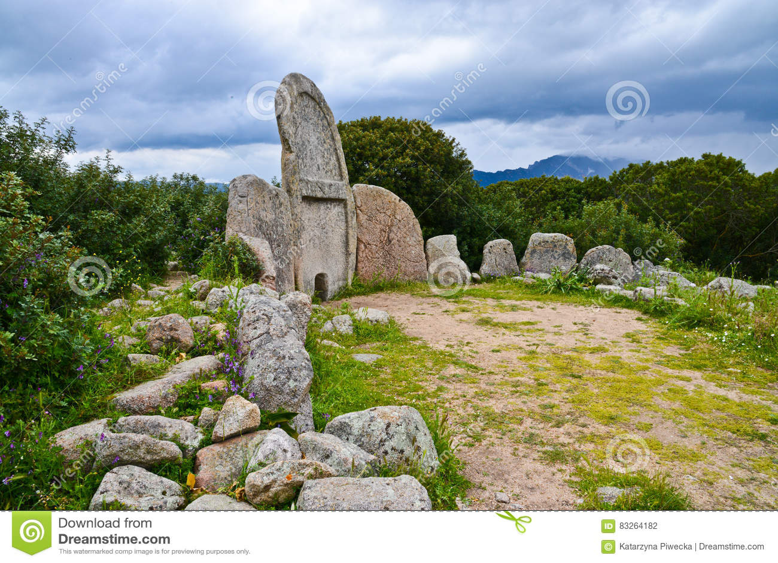 Giants` grave, Sardinia, Italy