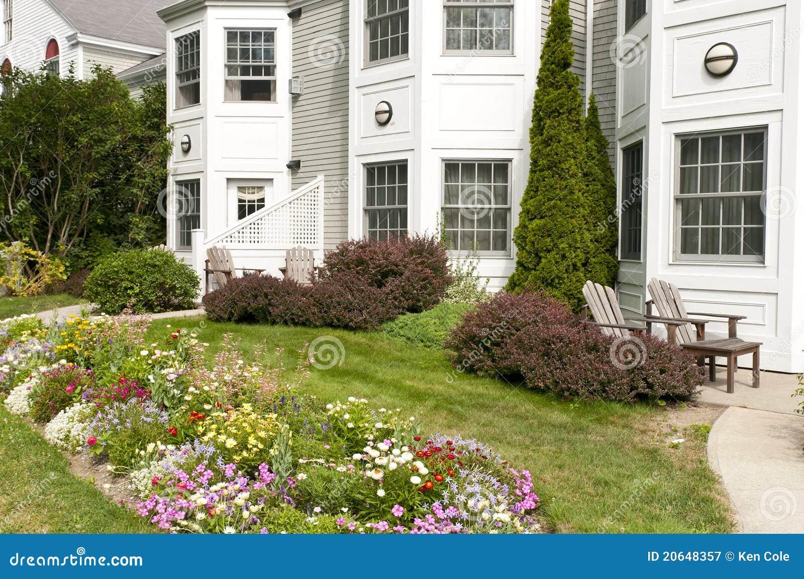 Giardini di fiore di lusso degli appartamenti fotografia for Appartamenti di lusso