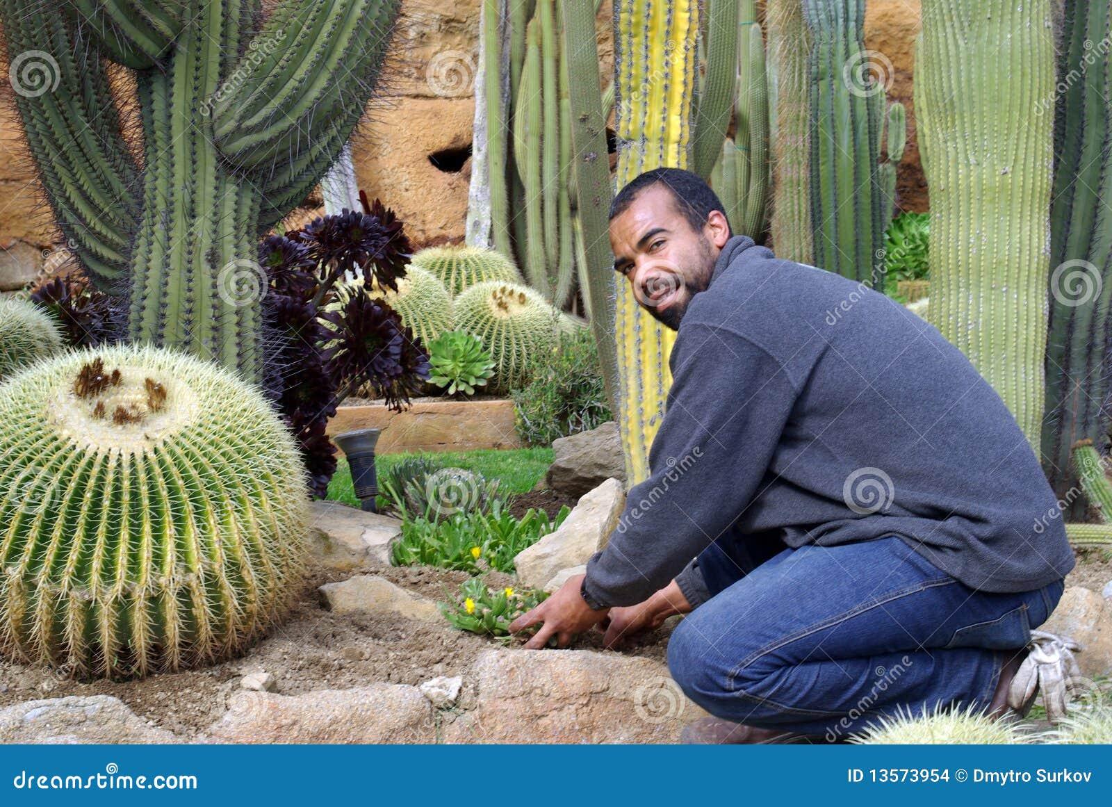 Giardiniere sul lavoro immagini stock immagine 13573954 for Immagini giardiniere