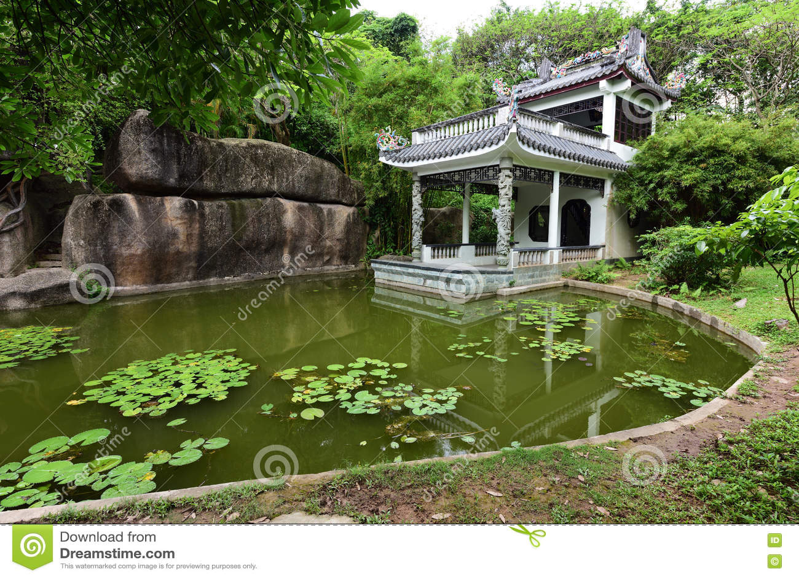 giardino antico cinese immagine stock immagine di famoso